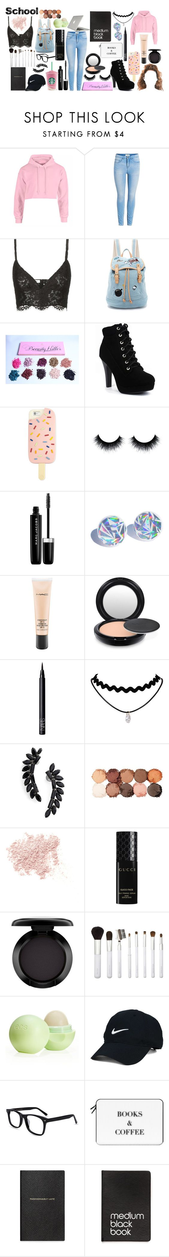 """""""school"""" by jaidyn-909 ❤ liked on Polyvore featuring Valentino, Paul & Joe Sister, Tory Burch, Marc Jacobs, MAC Cosmetics, NARS Cosmetics, Cristabelle, NYX, Bare Escentuals and Gucci"""
