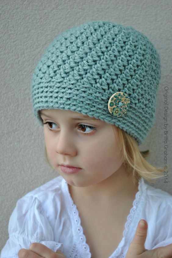 Crochet Pattern Hat Girl : Girls Crochet Hat Pattern in Toddler Kids Teen and Ladies ...