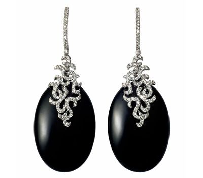 Boucles d'Oreilles Argan Onyx - Etername