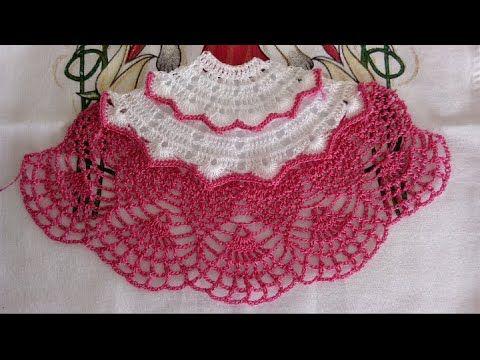 Saia De Croche Para Pano De Prato Modelo 02 Parte 01 Youtube Saia De Croche Calcas De Croche Para Bebe Bones De Croche