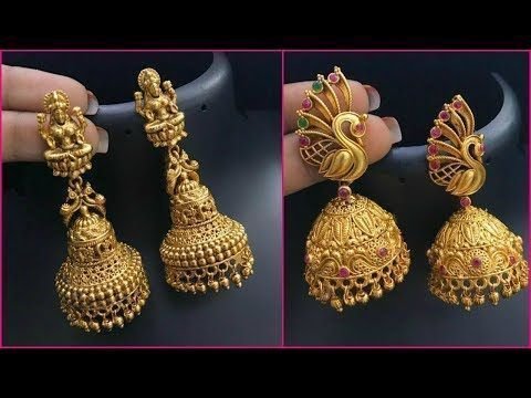 Latest 1 Gram Gold Jhumkas Designs With Price 1 Gram Gold Jewellery With Price And Address 1 Gram Gold Jewellery Handmade Gold Jewellery Gold Jewelry Simple