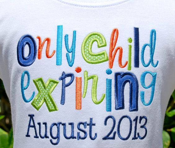 Only Child Expiring Shirt for New Baby by LilacAndLime on Etsy, $25.00