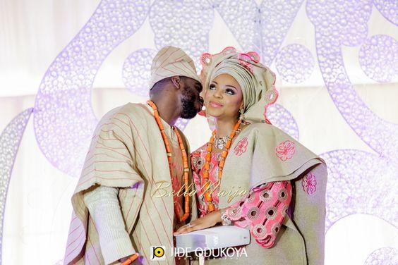 BellaNaija Bride Kemi & BellaNaija Groom Seun | Make Up by ShoMya | Yoruba Traditional Wedding | Jide Odukoya Photography