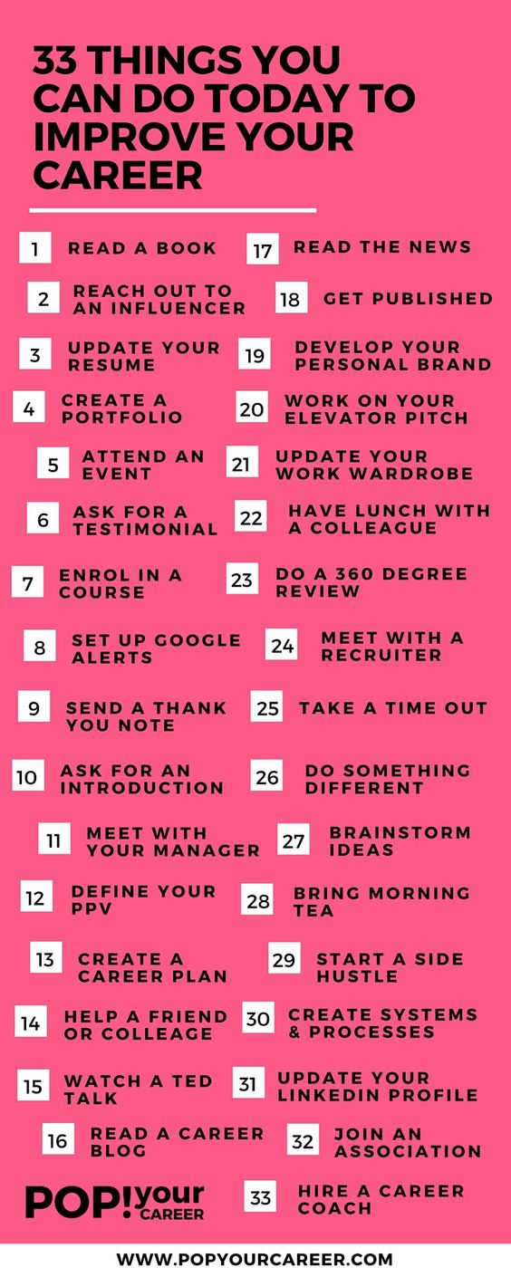 Easy ways to help move your career forward.