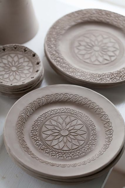 Mandalas flower and patterns on pinterest for Pottery designs with clay