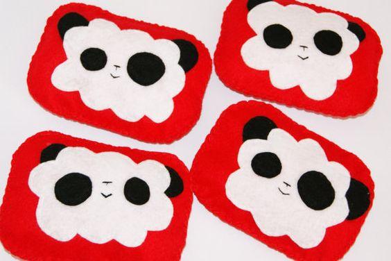 ... on Panda party  Pinterest  Red Felt, Bean Bags and Pandas