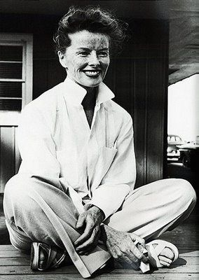 Katharine Hepburn - Style and attitude all her own.