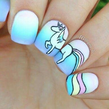 Unicórnio 🦄  #unhas #decoradas #criativas #perfeitas #cute #