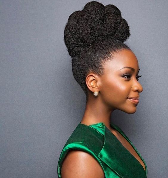 14 Classy African American Hairstyles For Weddings The Blessed Queens Natural Hair Bun Styles Natural Hair Bride Natural Hair Updo