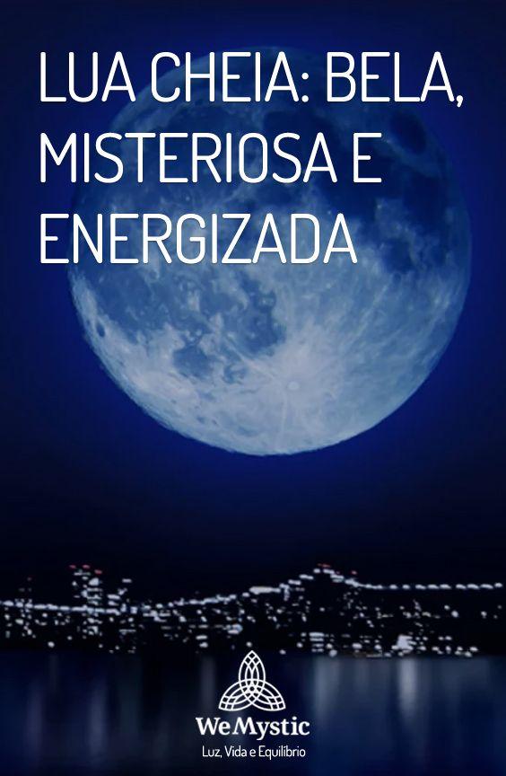 Lua Cheia Bela Misteriosa E Energizada Lua Cheia