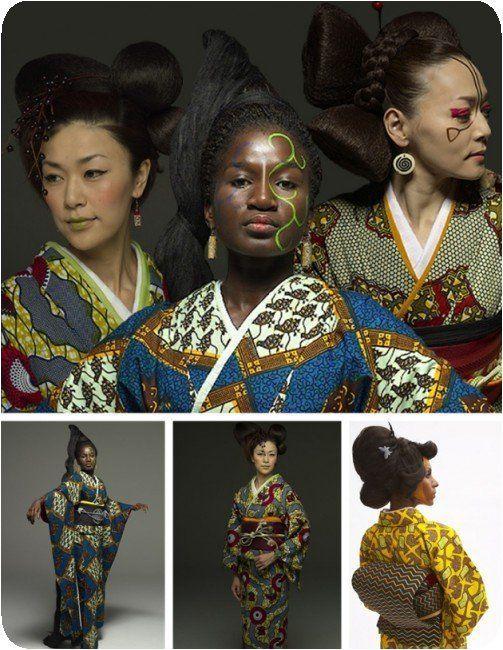 Kimono africain par WAfrica designer Serge Mouangue