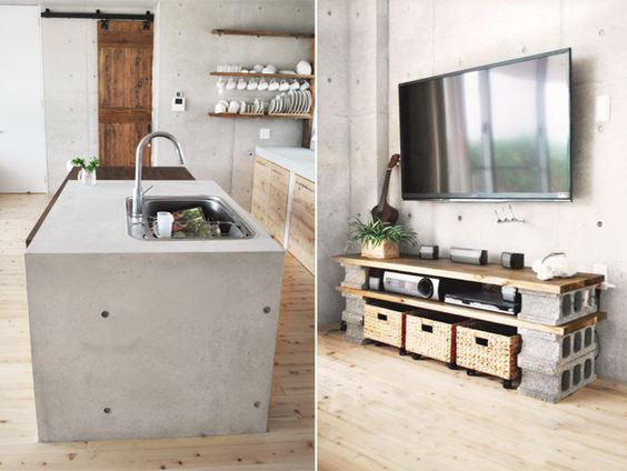 Pinterest the world s catalog of ideas for Cinder block tv stand