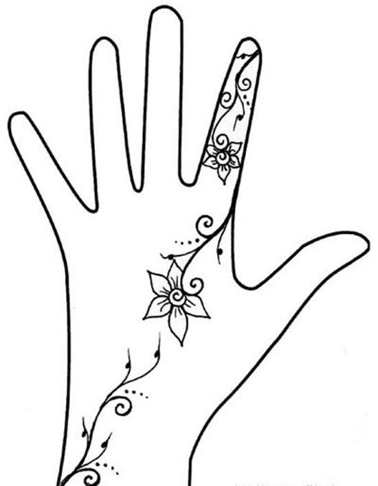 Mehndi Hand Outline : Simple assemblages and henna on pinterest