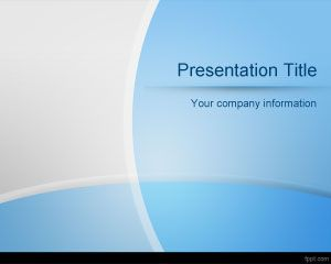 Curved Lines PowerPoint Template is a free blue template slide ...
