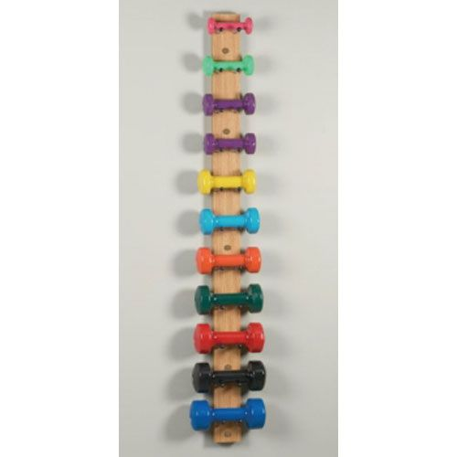 Dumbbell rack clinton n 39 jie and physical therapy on pinterest for Diy dumbbell rack wood