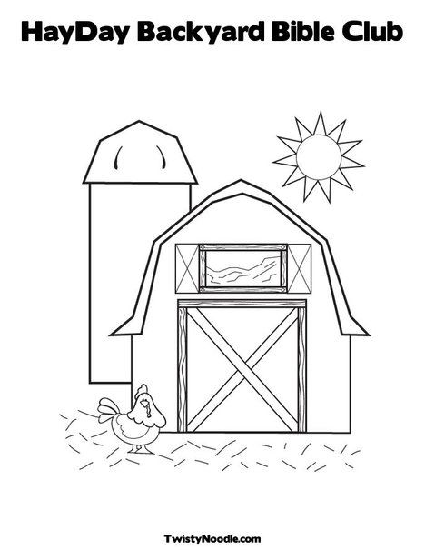 hayday backyard bible club coloring page from twistynoodle com barnyard party pinterest Forest Coloring Pages  Backyard Coloring Pages