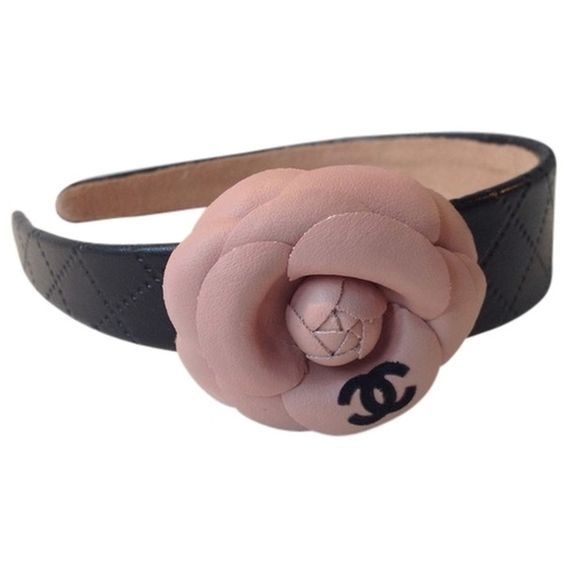 Pre-owned Brand New  Headband/hairband With Pink Camelia Flower (€240) ❤ liked on Polyvore featuring accessories, hair accessories, pink flower hair accessories, pink hair accessories, chanel headband, pink headbands and flower hair accessories