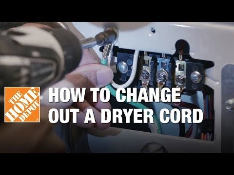 How To Change A Dryer Cord Replace 3 Prong For 4 Prong Plug Youtube Dryer Plug Dryer Power Plug