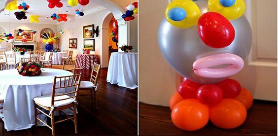 decoración de fiesta de cumpleaños de muchos colores