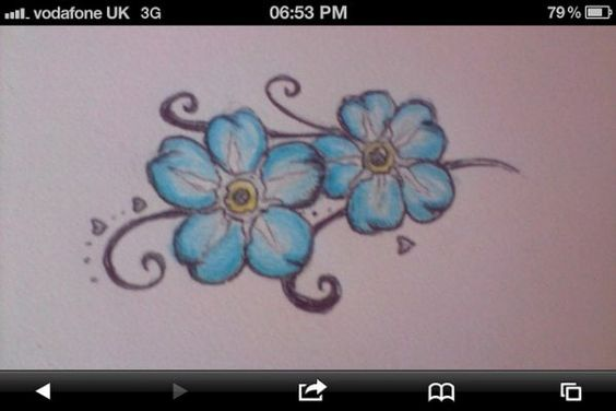 Forget me not tattoo design have