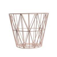 Ferm Living - Wire Trådkurv - Rosa