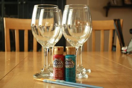 Pinterest the world s catalog of ideas for Acrylic paint on wine glasses