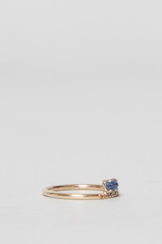 Mociun Stacked Sapphire Ring (Gold)