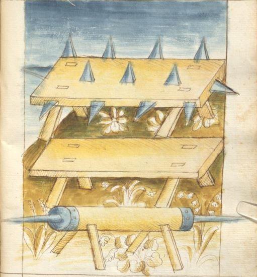 Bellifortis VerfasserKyeser, Conradus  ErschienenElsaß, [um 1460] Ms. germ. qu. 15  Folio 179r