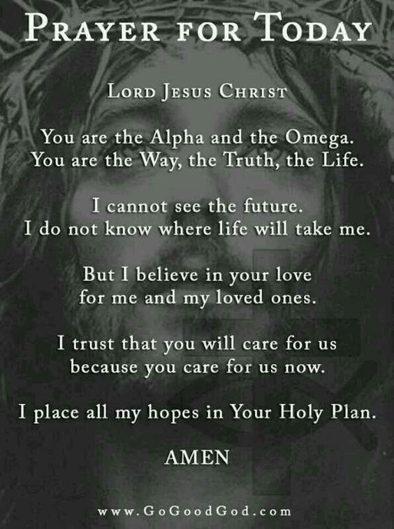 Prayer for today.