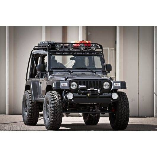 Arb Full Roof Rack With Mesh Floor And Lights Google Search Jeep Wrangler Tj Jeep Roof Rack