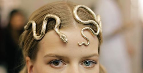 agameofclothes:  Snake headpiece for the Sand Snakes Valentino