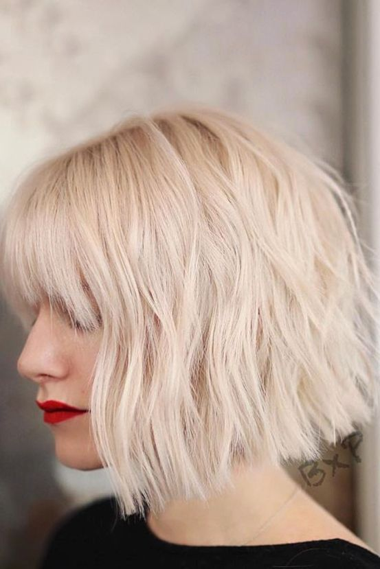 The Best Short Bob Hairstyles To Try In 2020 Because It S Just Time For A Chop In 2021 Bob Hairstyles Blonde Bob With Bangs Choppy Bob Hairstyles