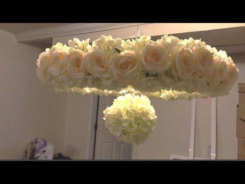 Hula Hoop Chandelier Wedding Decor