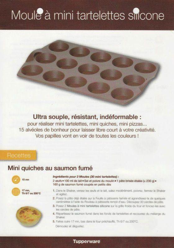 fiche recette moule mini tartelettes 1 2 tupperware mini quiches au saumon fum recette. Black Bedroom Furniture Sets. Home Design Ideas