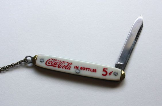 VINTAGE TINY KNIFE coca cola miniature knife by ingramcecil, $65.00