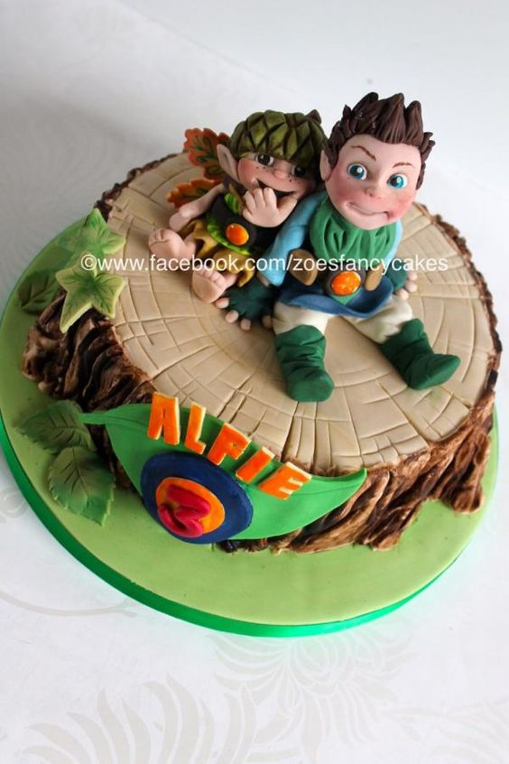 I'd not heard of Tree Fu Tom until I was asked to make this cake! Its a children's Tv programme. For the bark effect on the cake please see my Youtube tutorial at https://www.youtube.com/watch?v=pqRDMSs3Ae4&list=TLPBMhzKSYagDmhJX0TH-TuA8KGmvaytAX