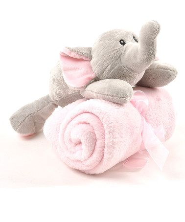 $9.99 ~ Take a look at this Jungle Elephant Plush Toy & Blanket Set by Linzy Toys today!  #babyshower  http://www.zulily.com/invite/Zulily20Store
