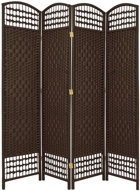 5 ½ ft. Tall Fiber Weave Room Divider   RoomDividers.com