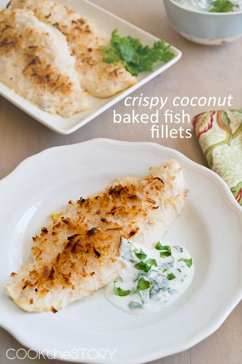 Baked fish fillet baked fish and coconut on pinterest for Crispy baked whiting fish recipes