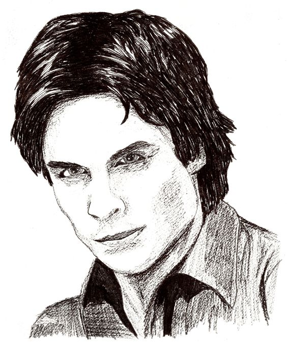 This drawing is of the deeply gorgeous ian somerhalder - Vampire diaries dessin ...