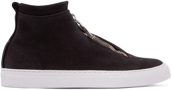Diemme Black Leather Fontesi High-top Sneakers | SSENSE saved by #ShoppingIS