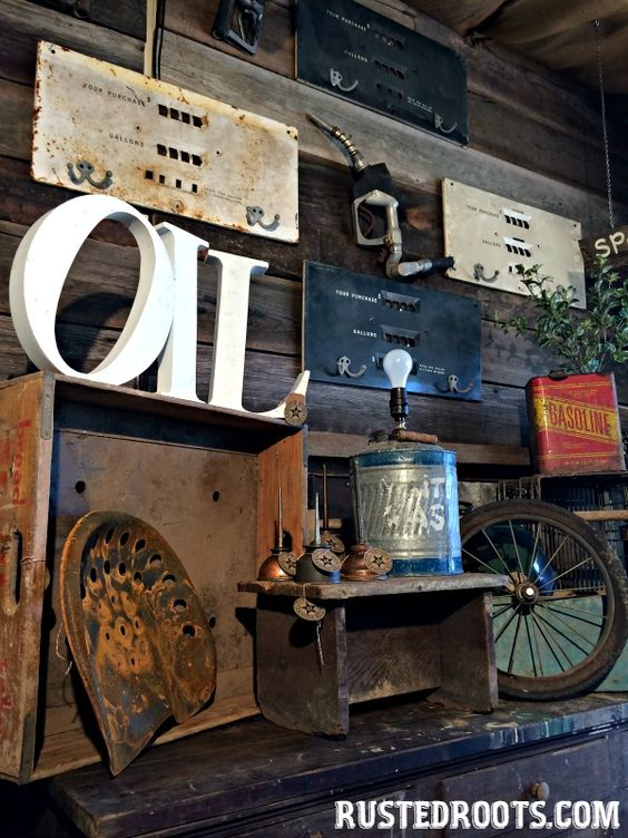Upcycled projects from old gas station junk rustedroots for Upcycled garden projects from junk