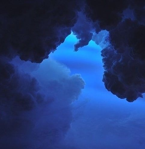 Spacer Blue Darkblue Aesthetic Clouds Cloudaesthetic Blue Aesthetic Dark Blue Aesthetic Pastel Light Blue Aesthetic