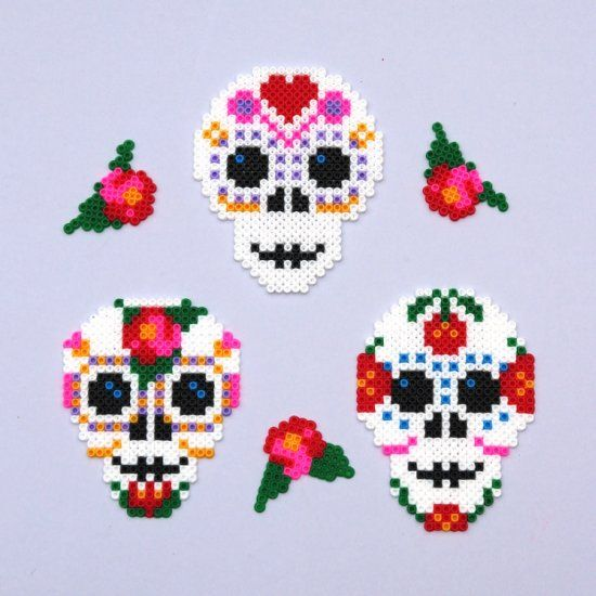 Day of the Dead Decoration Perler Beads