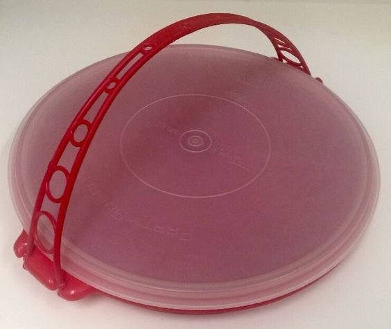 Sectioned Tupperware: Vintage Tupperware Suzette Red Relish Veggies Divided Tray