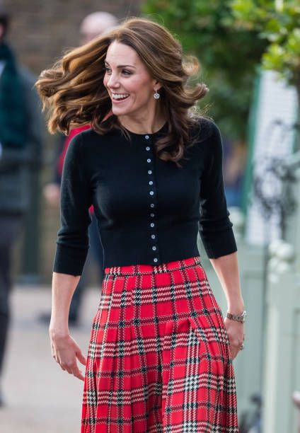 LONDON, ENGLAND - DECEMBER 04: Catherine, Duchess of Cambridge attends a party for families of military personnel deployed in Cyprus at Kensington Palace on December 04, 2018 in London, England. (Photo by Samir Hussein/WireImage)