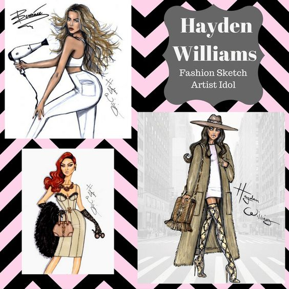 I am so inspired and hope to master Hayden Williams amazing talent to sketch. Mind blowing work to the point where I'm obsessed. (I created this simple chic collage)