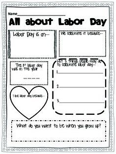 Worksheet Labor Day Worksheets we activities and the ojays on pinterest labor day for kids