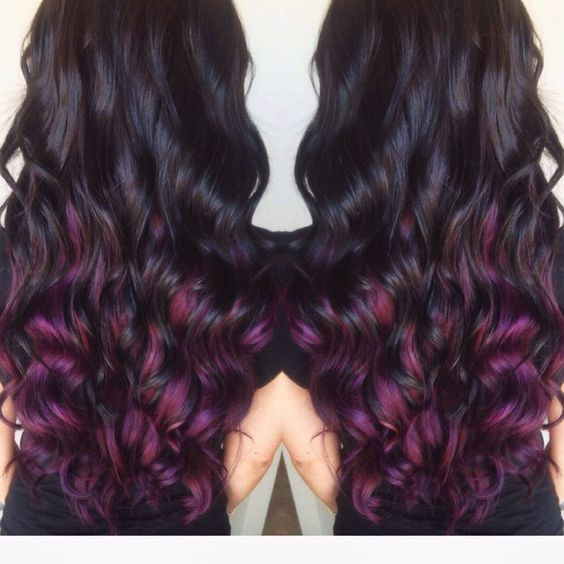 Dark Brown with Pravana Purple Underneath