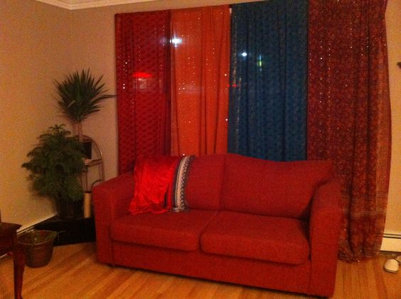 Colorful curtains made of Indian saris | Reno wants | Pinterest ...